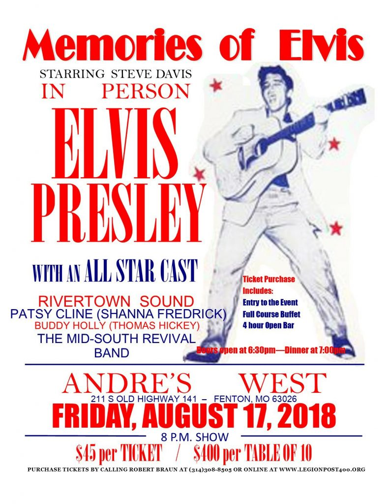 Memories of Elvis @ Andre's West | Fenton | Missouri | United States