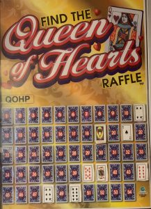 Find the Queen of Hearts Raffle